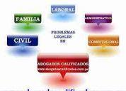 Abogados procesalistas: civil - familia - laboral - constitucional y administrativo.
