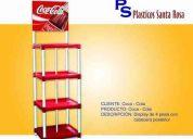 A embotelladores vendemos display de coca cola, fanta, inka k. cuzqueña....