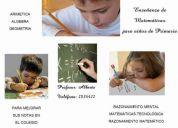 Clases de matematicas... para  niÑos (a) de primaria  nivelacion y adelanto