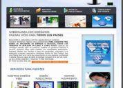 DiseÑo de paginas web profesionales a precios de oferta mas hosting y dominios