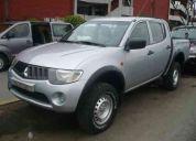 Vendo camioneta mitsubishi l200 4x4, m/p, aÑo 2007, motor 2500 turbo intercooler