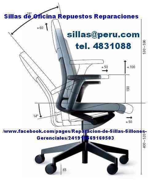 Sillas de oficinas reparacion lima peru la peca doplim for Reparacion sillas oficina