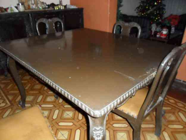 Vendo comedor luis 15 en cedro tallado jaz n hogar for Vendo muebles jardin