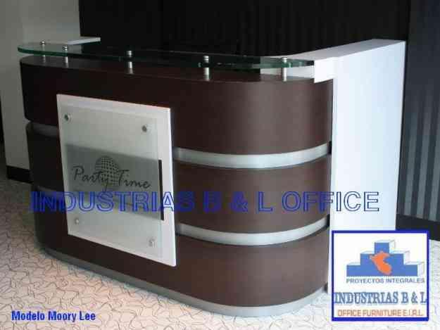 Muebles de oficina counter de melamine la peca hogar for Parque industrial villa el salvador muebles