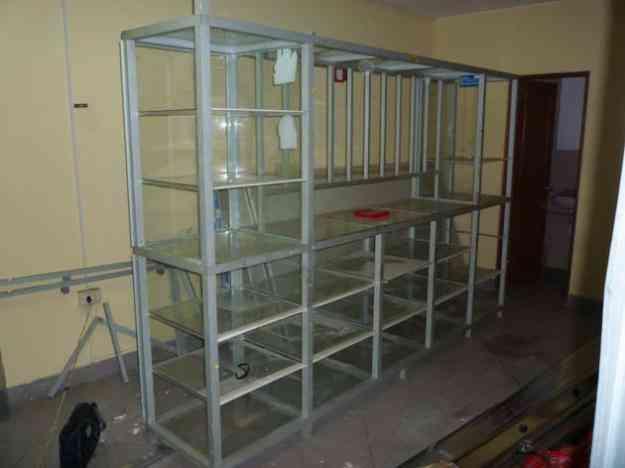 Vitrinas de aluminio y vidrio lima chorrillos doplim - Vitrinas de cristal para colecciones ...