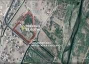 Vendo terreno industrial - comercial / la legua  38,000m2