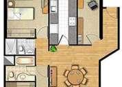 Alquilo departamento de 2 dormitorios amoblados + estudio con sofa cama para compartir