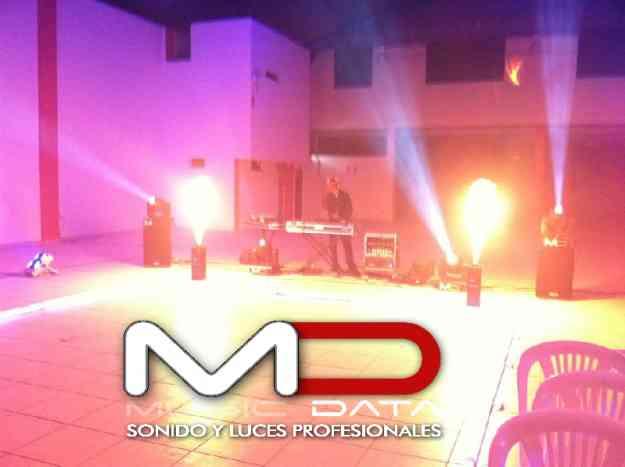equipos de sonido luces profesionales maquinas de fuego real  cabuki tubos led