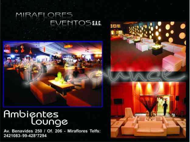 Matrimonios, 15 años, Zonas Lounge, Barras, sillas altas