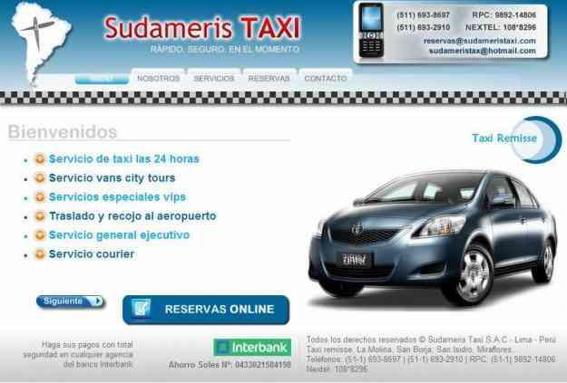 TAXI PARA EL AEROPUERTO ::SUDAMERIS TAX 479-8797 /108*8296