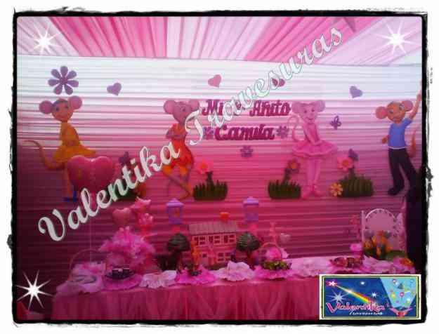 Decoracion de ANGELINA BALLERINA para fiesta infantiles - en lima al 402-4861