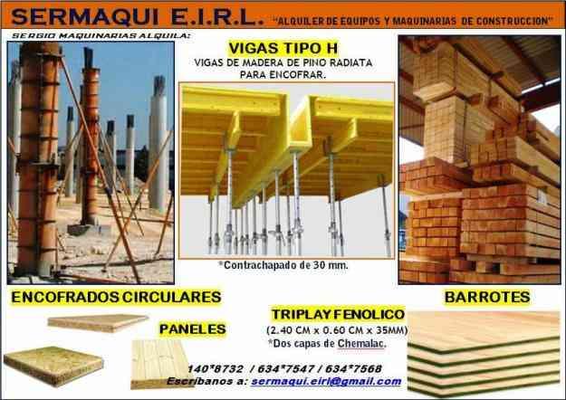 Alquiler encofrados vigas soleras paneles tricapas for Alquiler de andamios en valencia