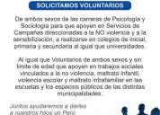Paz ciudadana perú - solicita voluntarios