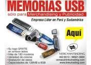 Memorias usb para merchandising y publicidad