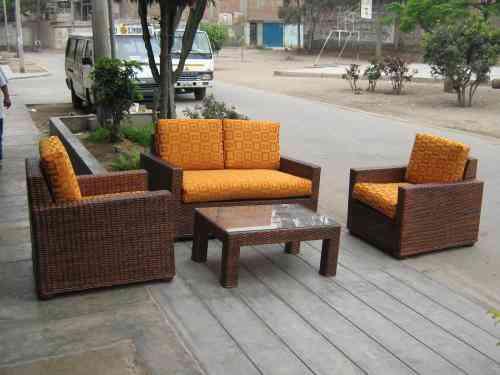 Muebles de ca a colihue y rattan lima hogar jardin - Muebles rattan jardin ...