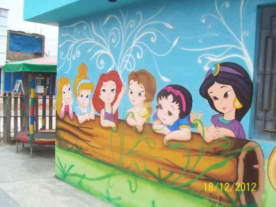 Fotos de murales infantiles habitaciones nidos - Pintar murales infantiles ...