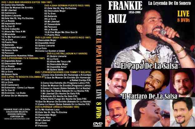 FRANKIE RUIZ COLECCION SELECTA 8 DVDs
