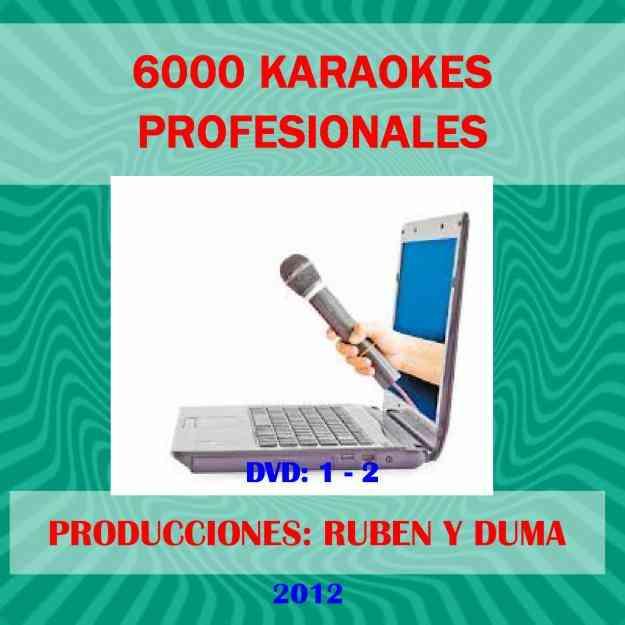 6000 karaokes profesionales con sonido real.super oferta