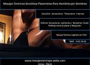 Masajes relajantes tantricos sensitivos para hombres por hombres lima perù