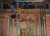 Limpieza de araÑas de bronce y cristal -articulos de bronce