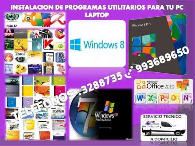 Servicio tecnico de Computadoras,laptops,redes,a Domicilio,oficina
