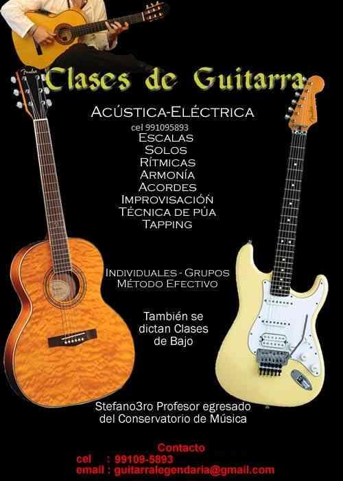 Clases de Guitarra Lima Peru Surco Acustica y Electrica prof. Stefano