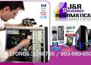 Servicio tecnico de computadoras,laptops,redes,formateos,a domicilio,colegios,oficinas