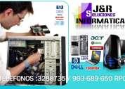 Servicio tecnico  a compuatdoras laptops redes formateos a domicilio