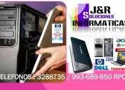 Servicio tecnico de pcs laptops redes cabinas a domicilio