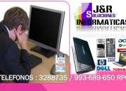 Servicio tecnico de computadoras laptops y redes a domicilio