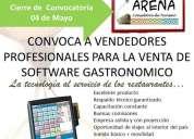 Ejecutivos de ventas para venta de software/ hardware (restaurantes)