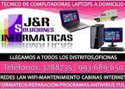 Reparacion de computadoras laptops cibers redes wifi,a domicilio