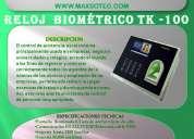 Reloj biometrico control de asistencia/maxsotec producto garantizado