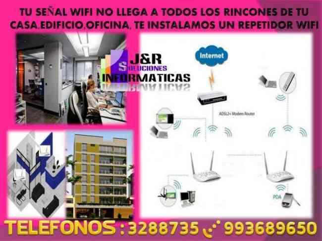 Servicio tecnico a redes Wifi,Computadoras Lpatops cabinas internet a Domicilio