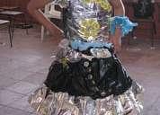 Sombreros reciclables titeres pancartas disfraces ecologicos vestidos princesas