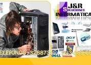 Servicio tecnico a computadoras,laptops,redes wifi,a domicilio