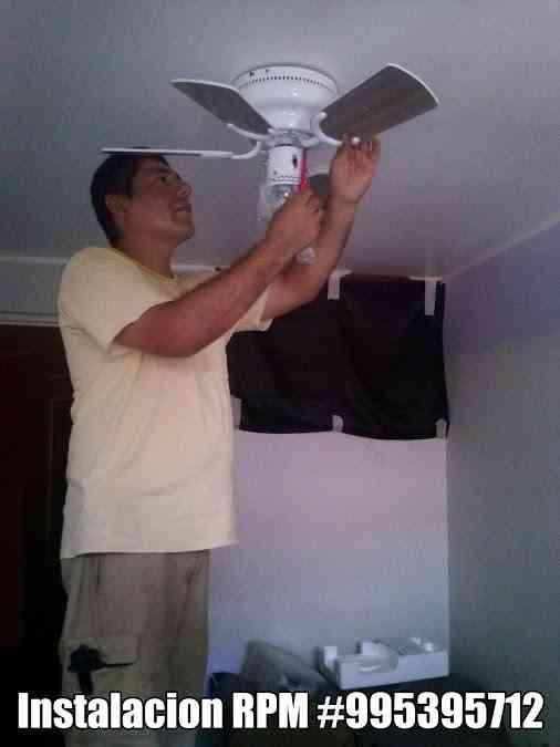Ventilador de techo instalacion electricista lima - Instalacion de ventilador de techo ...