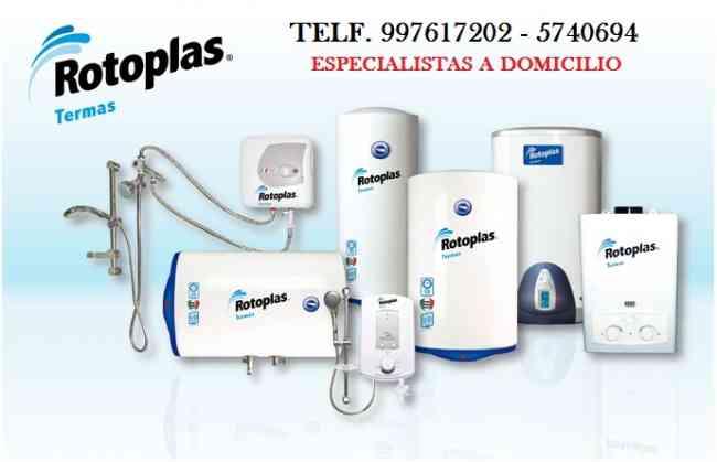 TERMAS ELECTRICAS, ELECTRONICAS, GAS//ESPECIALISTAS A DOMICILIO//997617202/ROTOPLAST, SOLE, YVISA, +