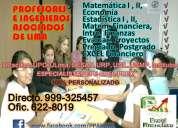 Estadistica, economia, matematica financiera, excel financiero, matematica aplicada