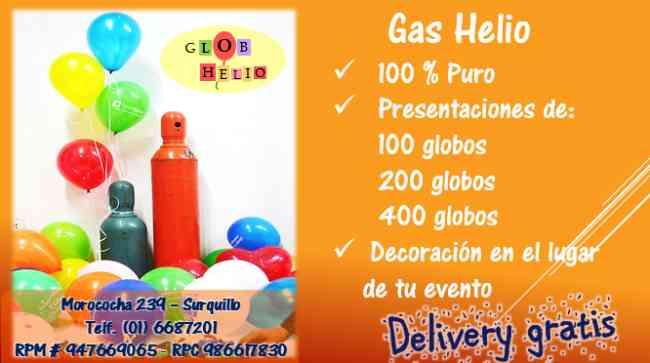 Gas helio venta lima surquillo doplim 271881 - Gas helio para globos precio ...