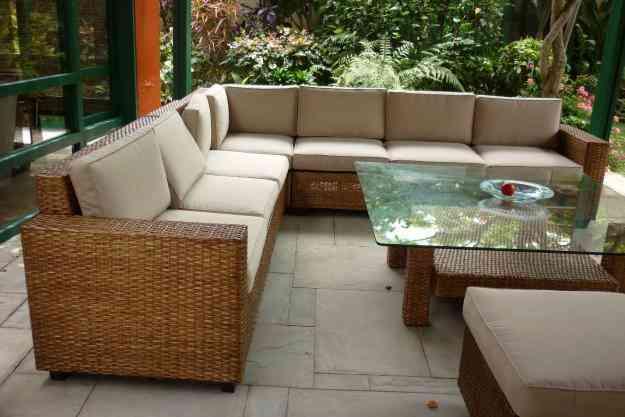 Muebles para terraza mimbre y rattan lima peru bagua for Muebles de mimbre para jardin