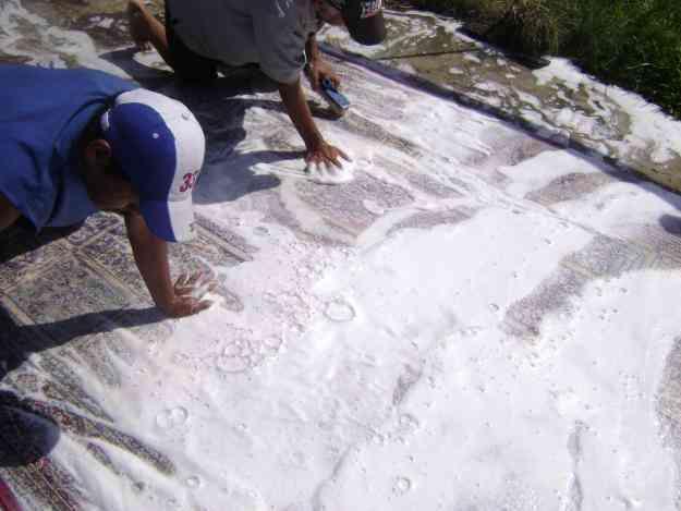 Restauracion de alfombras persas de flecos lateado for Restauracion alfombras persas