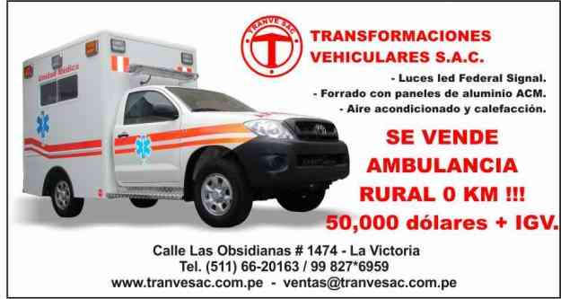 Vendo ambulancia rural toyota cabina simple 4x4 S/. 0.00