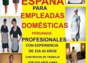 Internas para espaÑa.....domesticas peruanas cama adentro....contratos largos.....