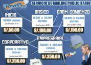 Servicio mailing publicitario (envios masivos de correo electronico)