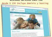 Diseño web profesional - hosting + dominio en perú - creacion de paginas web - peru web