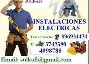 Instalacion y mantenimiento de pozo a tierra, luces de emergencia,alarmas