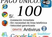 Internet inalambrico gratis 100 soles pago unico!! solo cajamarca