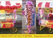 Carritos snacks happy day popcorn algodon manzana hamburgesas cama saltarina nueva 824*203