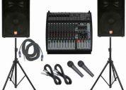 Alquiler de equipo de sonido, orquesta digital, show musical